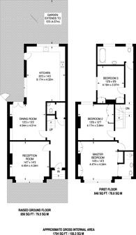 Large floorplan for Southwood Lane, Highgate, N6
