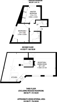 Large floorplan for Goldhurst Terrace, South Hampstead, NW6