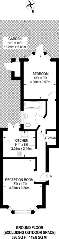 Large floorplan for Sidney Road, Forest Gate, E7
