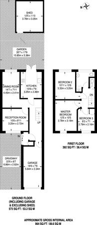 Large floorplan for Atlas Road, Plaistow, E13