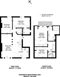Large floorplan for Rosslyn Hill, Hampstead, NW3