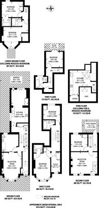 Large floorplan for Strathblaine Road, Clapham Junction, SW11