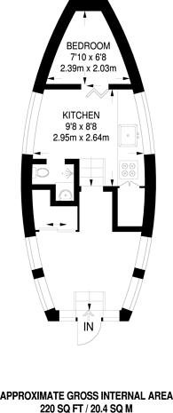 Large floorplan for Greenland Docks, Canada Water, SE16