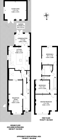 Large floorplan for Olive Road, Willesden Green, NW2