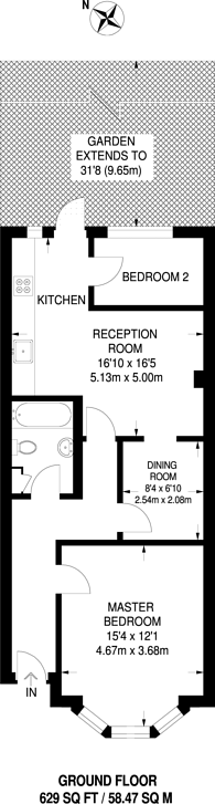 Large floorplan for Scrubs Lane, Kensal Green, NW10