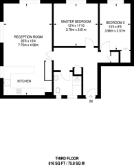 Large floorplan for Vereker Road, Barons Court, W14