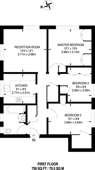Large floorplan for Hepple Close, Isleworth, TW7