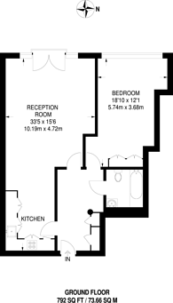 Large floorplan for Breezers Court, Wapping, E1W
