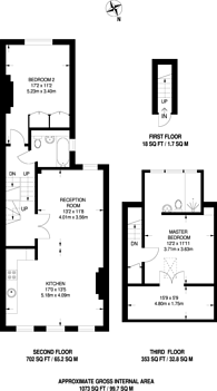 Large floorplan for Saltram Crescent, West Kilburn, W9
