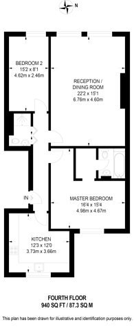 Large floorplan for Queens Gate Place, South Kensington, SW7