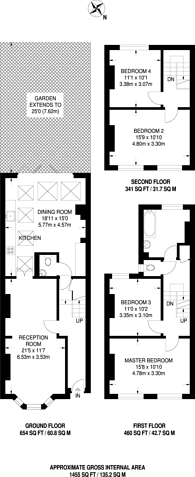 Large floorplan for Dalyell Road, Clapham North, SW9