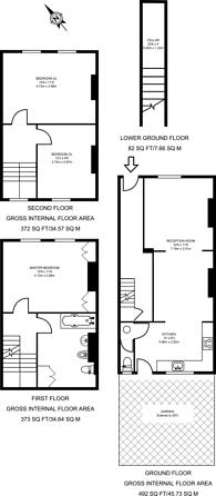 Large floorplan for Horton Road, Hackney, E8
