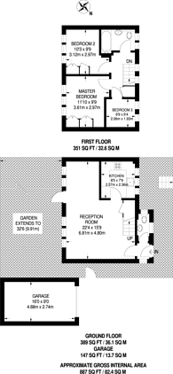 Large floorplan for Elm Way, Friern Barnet, N11