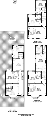 Large floorplan for Montrell Road, Streatham Hill, SW2