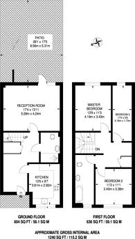 Large floorplan for Shepherds Lane, Hackney, E9