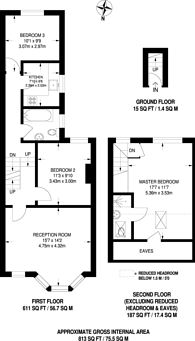 Large floorplan for Somers Road, Walthamstow, E17