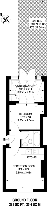 Large floorplan for Axminster Road, Holloway, N7