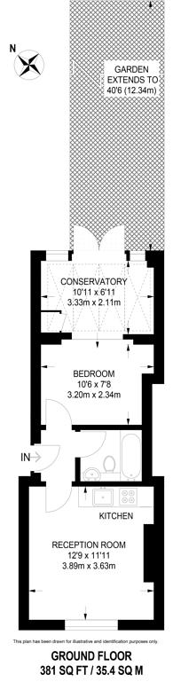 Large floorplan for Axminster Road, Holloway, N7