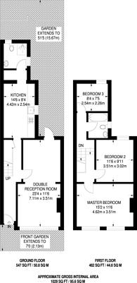 Large floorplan for Ravenslea Road, Balham, SW12