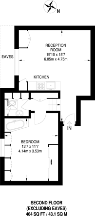 Large floorplan for The Avenue, Queen's Park, NW6