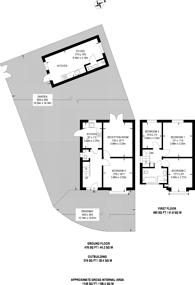 Large floorplan for Ruston Avenue, Surbiton, KT5