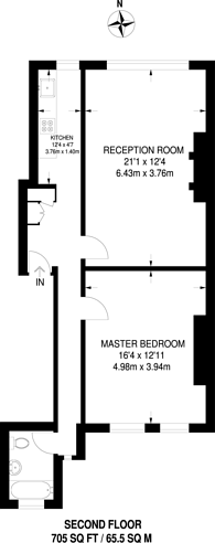 Large floorplan for South Hampstead, South Hampstead, NW6