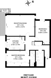 Large floorplan for Shannon Way, Beckenham, BR3