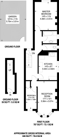 Large floorplan for St Barnabas Road, Sutton, SM1