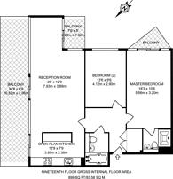 Large floorplan for Neutron Tower, Docklands, E14