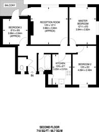Large floorplan for Birch House, Brixton, SW2