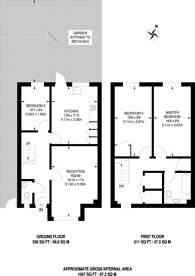 Large floorplan for Lords Close, West Dulwich, SE21