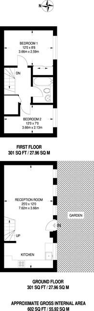 Large floorplan for Grovelands Close, Camberwell, SE5