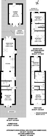 Large floorplan for Munster Road, Teddington, TW11