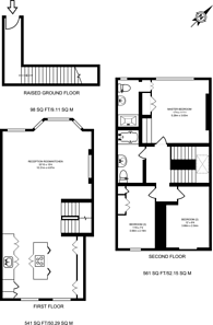 Large floorplan for Gratton Road, Brook Green, W14