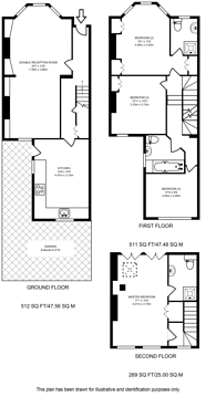 Large floorplan for Claxton Grove, Barons Court, W6