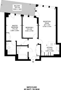 Large floorplan for Juniper Drive, Battersea, SW18