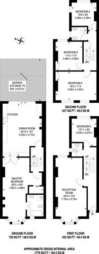 Large floorplan for Rushmore Road, Clapton, E5