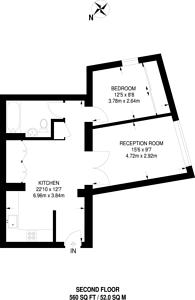Large floorplan for Bishopsgate, City, EC2M