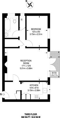 Large floorplan for Langbourne Mansions, Highgate, N6