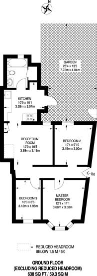 Large floorplan for Coleridge Road, Walthamstow, E17