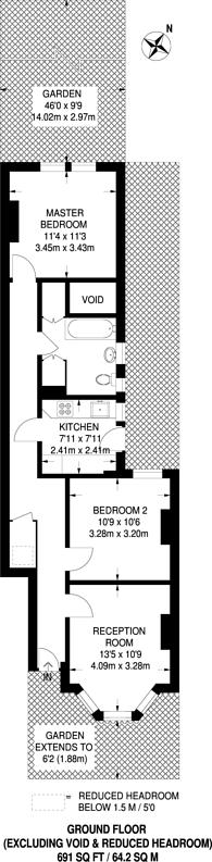 Large floorplan for Wetherden Street, Walthamstow, E17