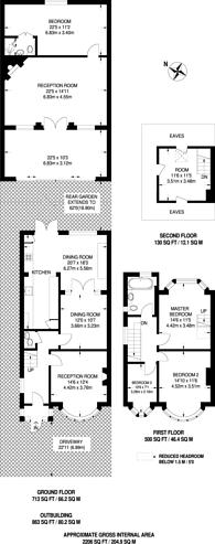 Large floorplan for Linden Way, Southgate, N14