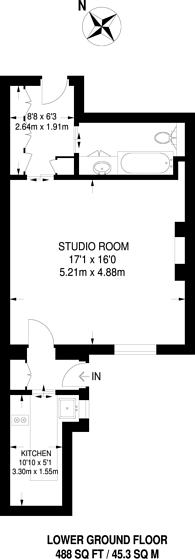 Large floorplan for Palace Gardens Terrace, Kensington, W8