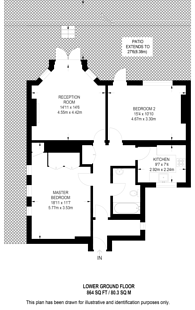Large floorplan for Tavistock Place, Bloomsbury, WC1H
