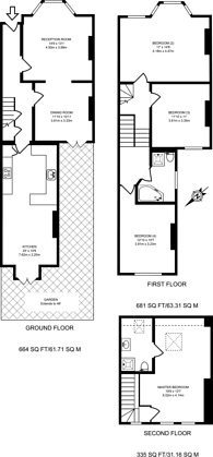 Large floorplan for Alexandra Road, Wimbledon, SW19