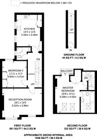 Large floorplan for Lambrook Terrace, Fulham, SW6