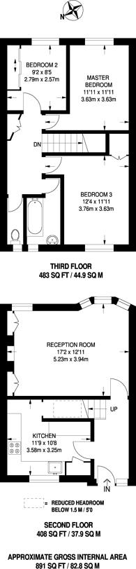 Large floorplan for Spencer Park, Spencer Park, SW18