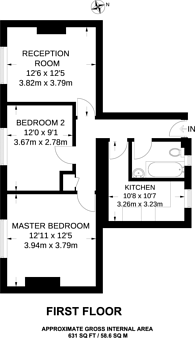 Large floorplan for Sage Street, Shadwell, E1