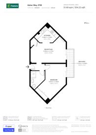 Large floorplan for Asher Way, St Katharine Docks, E1W
