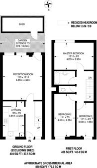 Large floorplan for Clarence Gardens, Euston, NW1